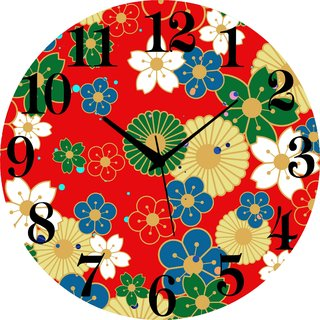Vidhi Creation Circular Analog Wall Clock RND-SHW0196 - Pack of 1