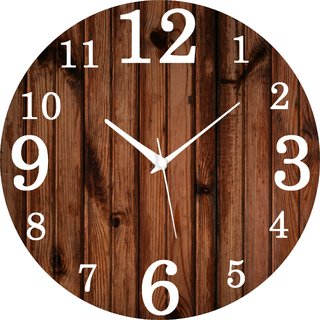 Vidhi Creation Circular Analog Wall Clock RND-SHW0387 - Pack of 1