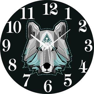 Vidhi Creation Circular Analog Wall Clock RND-SHW0198 - Pack of 1