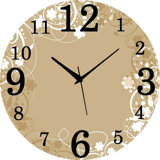 Vidhi Creation Circular Analog Wall Clock RND-SHW0275 - Pack of 1