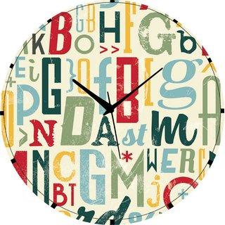 Vidhi Creation Circular Analog Wall Clock RND-SHW0341 - Pack of 1