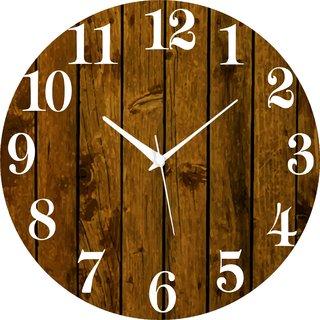 Vidhi Creation Circular Analog Wall Clock RND-SHW0200 - Pack of 1