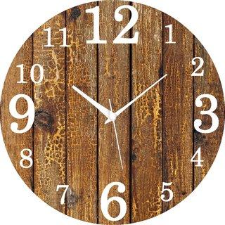 Vidhi Creation Circular Analog Wall Clock RND-SHW0480 - Pack of 1
