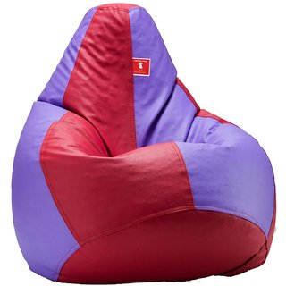 Comfy Bean Bag MAROON LAVENDER L SIZE Without Fillers - Cover Only