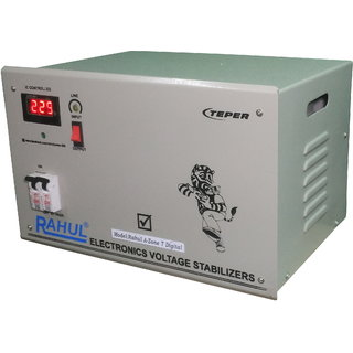 Rahul A-Zone a7 Digital 7 KVA/28 AMP 140Volt 3 Step Main Line Use Up to 7 KVA Load Auto Matic Digital Voltage Stabilizer