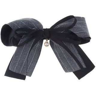 Fayon Chic Stylish Black Butterfly Lace Grey Hair Clip