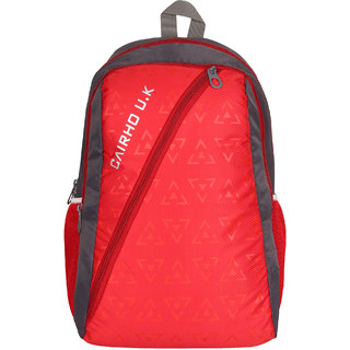a15dd39ad518 Buy Cairho Red Grey School Bag Backpack 25 Liters 3 Compartments ...