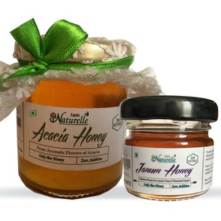Farm Naturelle -1 Acacia Forest Honey (250 Gms) along with Another Forest Flower Honey 40 Gms