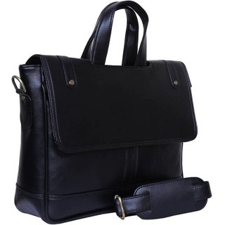 3e1b1e80ed Buy Home Story Synthetic Leather 15.6-Inch Laptop Black Executive Office Bag  (Black) Online - Get 53% Off