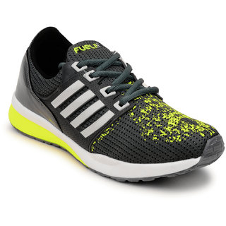 Fuel Mens Grey Green Laced Up Sports Walking Shoes