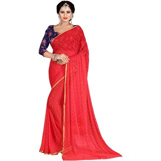 4926a7a74687cb Mahadev Enterprises Peach Fancy Nazneen Weaving Saree With Unstitched Blouse  Pics M6GM01