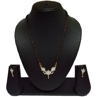 Pourni American Diamond Tanmaniya Mangalsutra for women- PRMS23