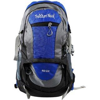 Trekkers Need Rock & Air 40Ltr Blue Backpack/Laptop Bag