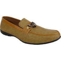 High Fly Men's Tan Mesh Stylish Casual Shoes, Loafers (