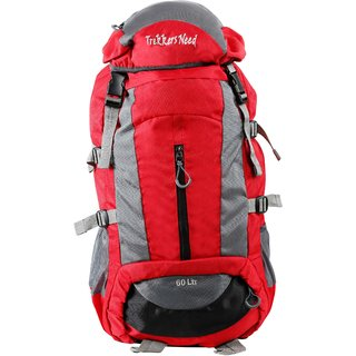 Trekkers Need Thunder 60Ltr Red Rucksack