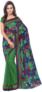 Faux Georgette Printed Saree With un-stiched Blouse