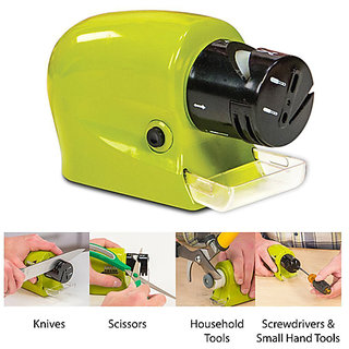 Swifty Sharp Motorized Knife Sharpener and Includes CATCH-TRAY for Metal Shavings