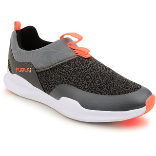 Fuel Mens Boys Grey Coral Slip On Solid Walking Shoes