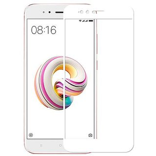 Tempered Glass For Redmi A1 Full Screen White Colour Standard Quality