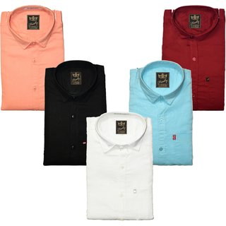 Pack of 5 Slimfit Shirt by Freaky