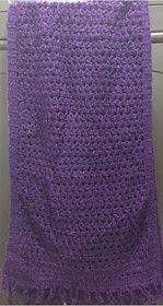 Purple Soft Handknitted stawl
