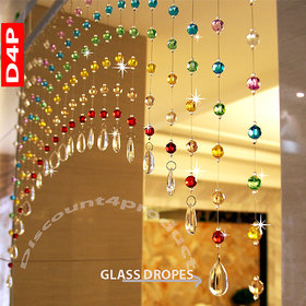 Discount4product Acrylic Crystal Bead And Glass Drops Arch Shape Rainbow Curtain For Partition Spaces Wedding Home Hotel