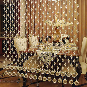 Discount4Product Home Decors Porch Partition Acrylic Crystal Bead 2 Meter Height Curtain,Transperent