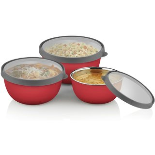Stainless Steel Microwave Safe Bowl Set