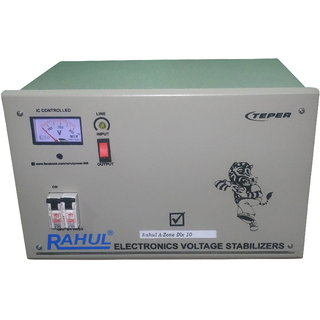 Rahul A-Zone Dlx a10 KVA/40 AMP 100-280 Volt 5 Step Main Line Use Up to 10 KVA Load Auto Matic Copper Digital Stabilizer