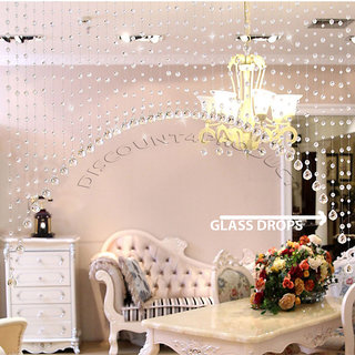 Discount4product Crystal Beads And Glass Drops Curtain Partition Spaces Wedding Decoration Home Hotel Shop Decoration