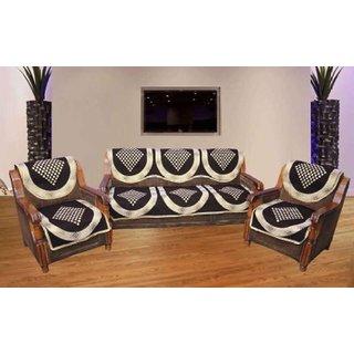 Manvi Creations Brown Daimond Sofa Cover