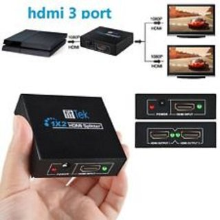 1 to 2 Port HDMI Switch HDMI Splitter for HDTV 1080P HDMI PORT One Input to  Two Output 3D Full HD