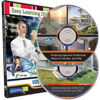Modeling And Rendering Impressive Interiors And Exteriors in 3ds Max and V-Ray Video Tutorials on 2 DVDs