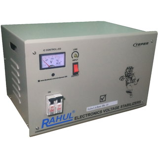 Rahul A-Zone Dlx c10 KVA/40 AMP 100-280 Volt 5 Step Main Line Use Up to 10 KVA Load Auto Matic Copper Voltage Stabilizer