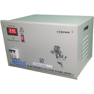 Rahul A-Zone Dlx c10 Digital 10 KVA/40 AMP 90 Volt 5 Step Main Line Use Up to 10 KVA Load Auto Matic Copper Stabilizer