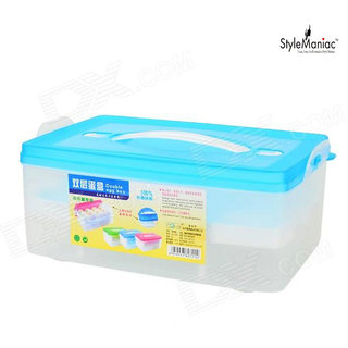 Style Maniac High Plastic Double Layer 24 Eggs Storage Box Container (Multicolor)
