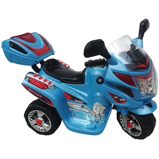 Oh Baby, Baby Battery Operated Bike Blue Color With Musical Sound And Back Basket For Your Kids SE-BOB-05