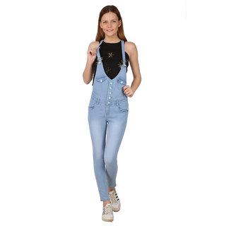 Manash Fashion Women Blue Denim Dungaree
