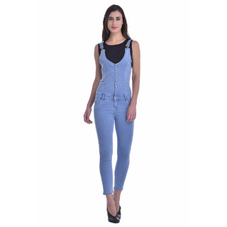 Manash Fashion Women Blue Denim Dungaree