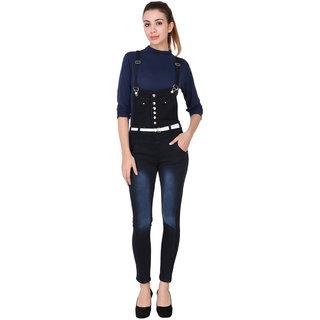 Manash Fashion Women Denim Black Dungaree