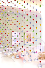 Discount4product Crystal Curtain 20 string Drop Diamond for partition spaces wedding decoration home decoration