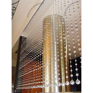 Discount4product Crystal Acrylic 20 string Curtain Home Decoration