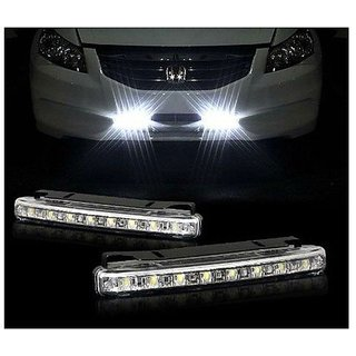 8 LED Super Bright Daytime Day Time Running Light DRL For Car