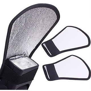 SHOPEE branded Mini Silver White Flash Diffuser Reflector for Canon Nikon Pentax Yongnuo Sony