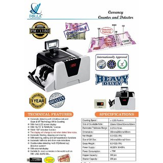 FOLLA FM1100 PLUS CASH COUNTING MACHINE WITH 1YEAR WARRANTY