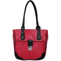 Fantosy Red And Black Women Handbags