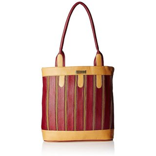 Fantosy Multi Chain Maroon and Beige handbag