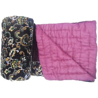 8be5fa2325 Shopping store Double Bed Size Winter Season Velvet razai Soft and Light  Weight Printed Floral cotton