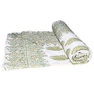Shopping store Double Bed Size Jaipuri Pure Cotton Quilt Razai Hand Block Printed Winter Quilt/ Comforter/Razai, Jaipuri Razai,  Blanket, Dohar, Jaipuri Prints