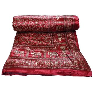 7137330bcc Shopping store Double Bed Size Jaipuri Pure Cotton Soft and Light Weight  Printed Floral Satin Quilt